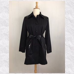 Via Spiga Button Down Belted Trench Jacket